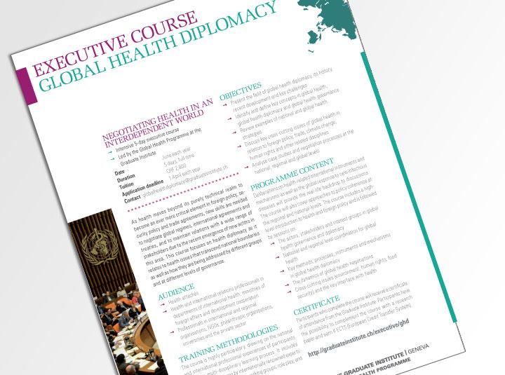 Brochure describing a teaching program for an international NGO