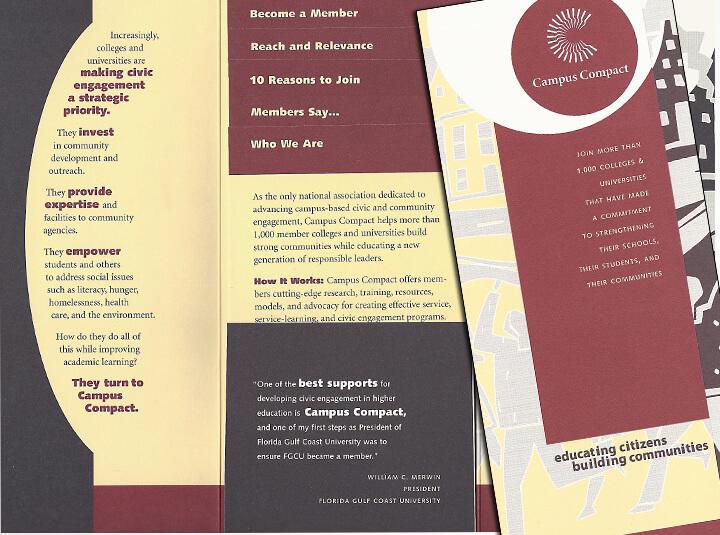 Brochure for higher education organization
