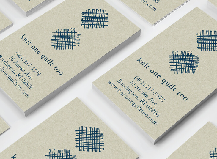 Knit One Quilt Too Business Cards