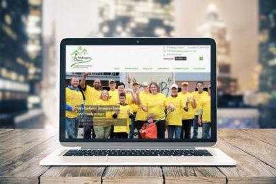 Website for social service agency