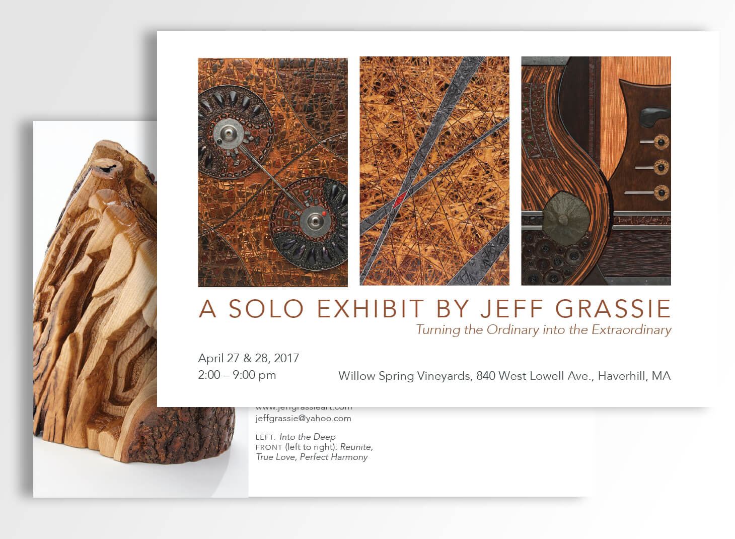 Promotional material for artist show