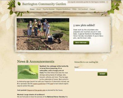 website for community organization