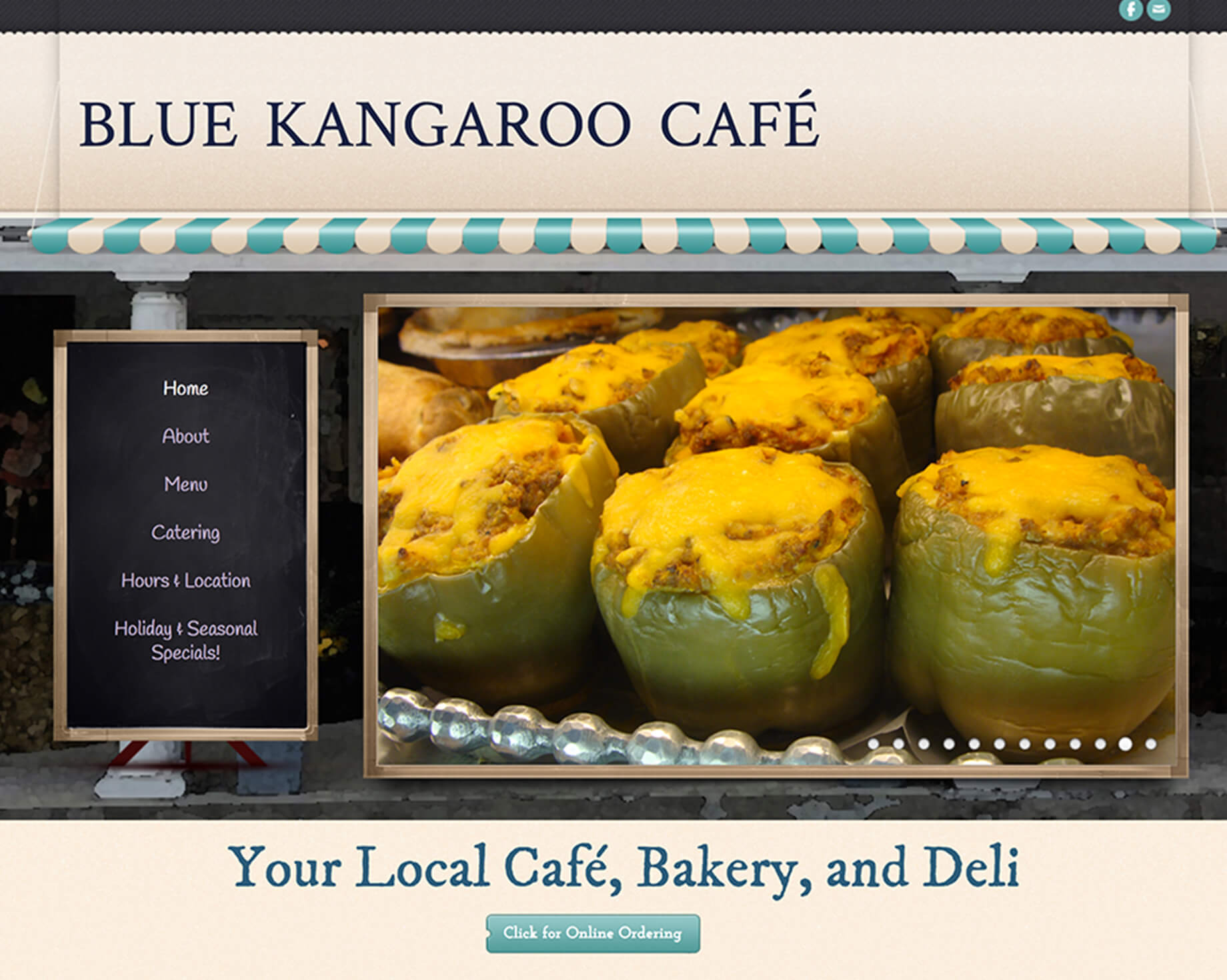 website for local cafe