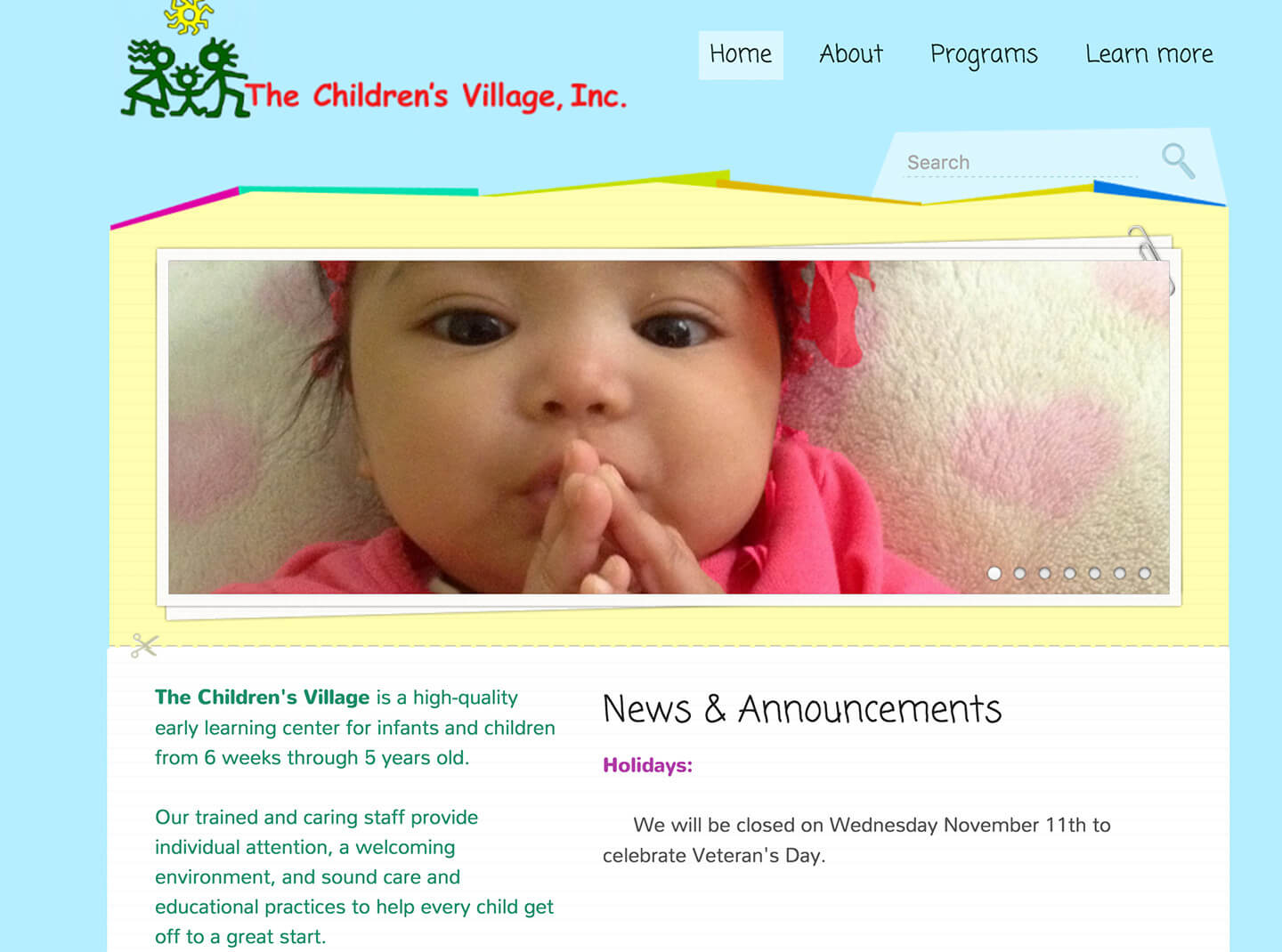website for childcare agency