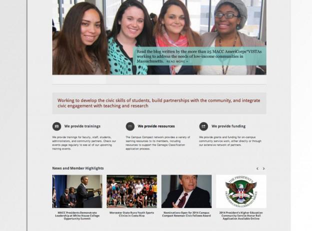 Website for higher education organization
