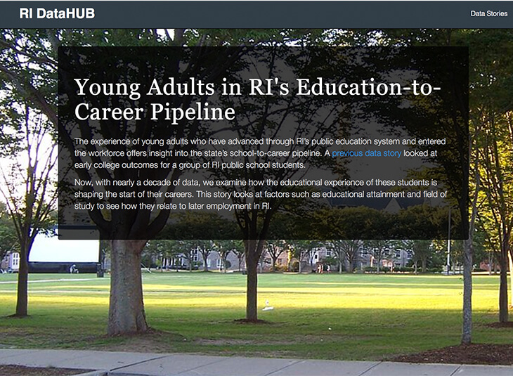 Young Adults in RI's Education-to-Career Pipeline