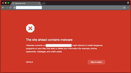 Google blacklist warning